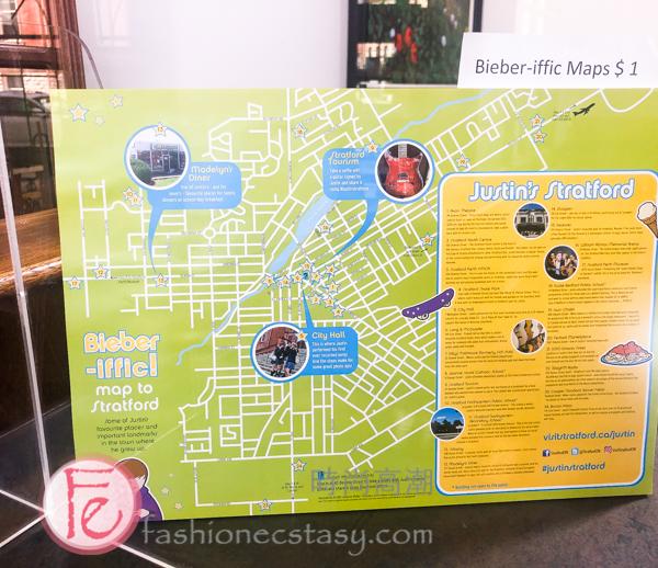"Justin Bieber ""Bieber-iffic map"" 小賈斯汀地圖"