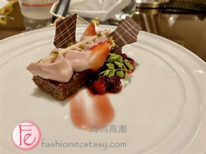 「覆盆莓巧克力蛋糕」