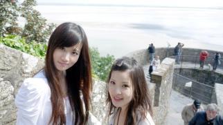 Fashion Ecstasy's editor Tanya Hsu at Mont Saint Michel (2011)