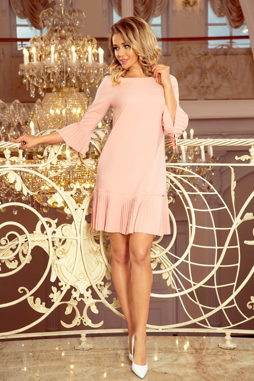 pleated pastel pink big -