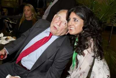 Christie with Ed Asner at the Garden State Film Festival.