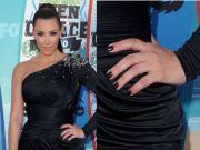 black nail polish glam goth