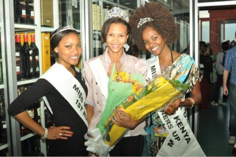 With Susan Anyango and Precious Kerubo