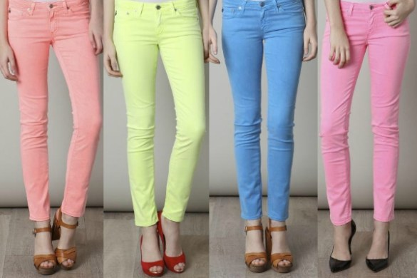 Spring Fashion Trend, Colored Jeans
