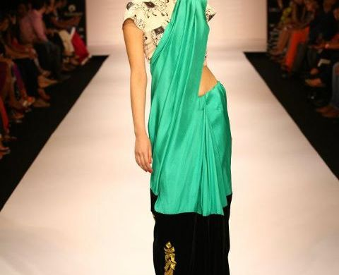 Masaba Gupta Cow Print at Lakme Fashion Week 2012