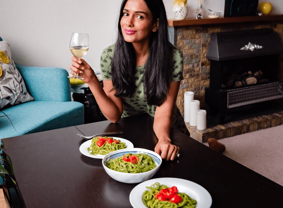 Coriander pesto pasta recipe