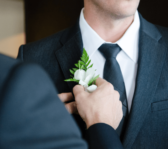 Groom's wedding essentials