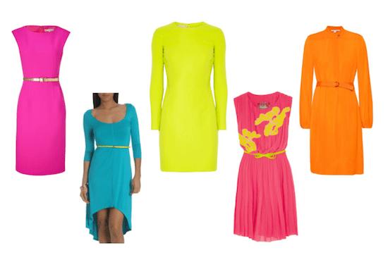 Neon Fashion Trend, Spring 2012