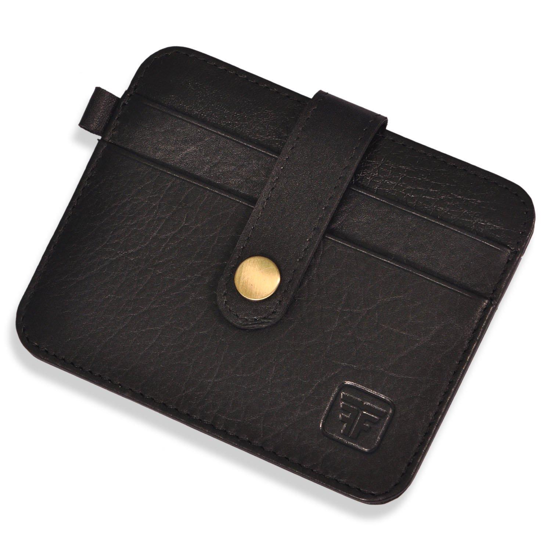 930d1b2cfd04 Fashion Freak Leather Credit Card Holder -Slim Minimalist Front Pocket RFID  Blocking Leather Wallets for Men Women