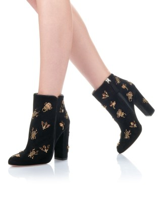 aquazzura-round-toe-fauna-bootie-105-black-embroidery-suede-dressed