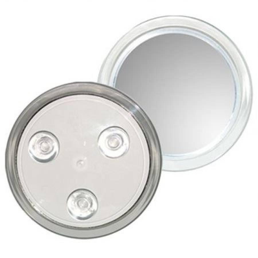 Miroir Uniq Maquillage Avec Ventouses Grossissant X10 Blanc