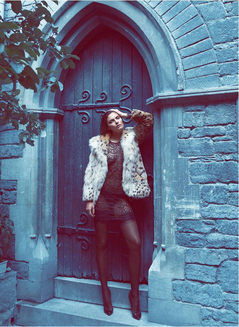 AlyssaLingerie5 Alyssa Miller Wows in Fur Styles for Harpers Bazaar Turkey December by Koray Birand