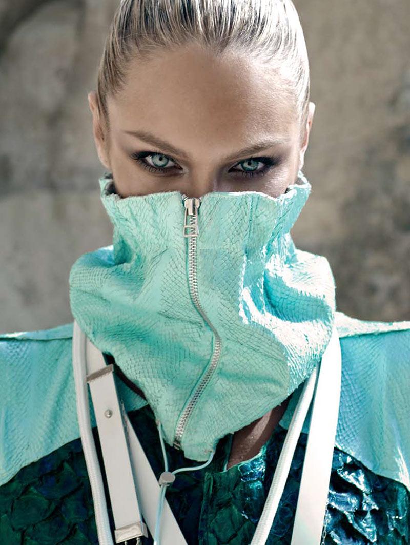 CandiceElle11 Candice Swanepoel принимает на спортивном стиле Glam для Elle Бразилии