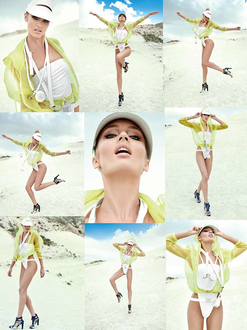 CandiceElle7 Candice Swanepoel принимает на спортивном стиле Glam для Elle Бразилии