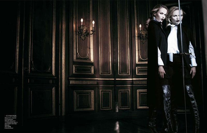 Наташа willy7 Наташа Поли является Очаровательные в Vogue China ноябрь 2012 Вилли Вандерпер