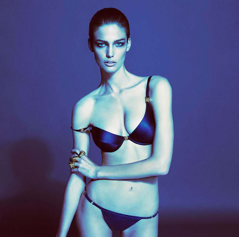 versace Versace Taps Kendra Spears for its Spring 2013 Underwear Collection