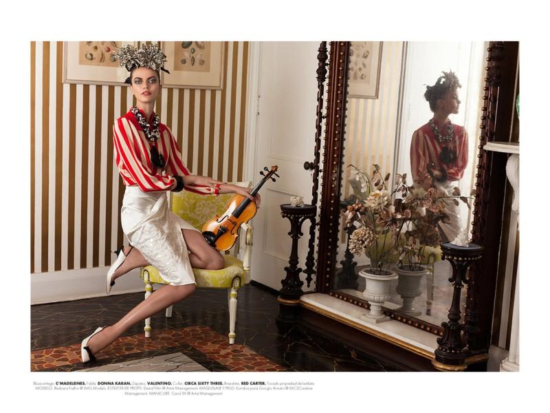 BarbaraElle2 Barbara Fialho Gets Tropical for Elle Mexico January 2013, Shot by Danny Cardozo