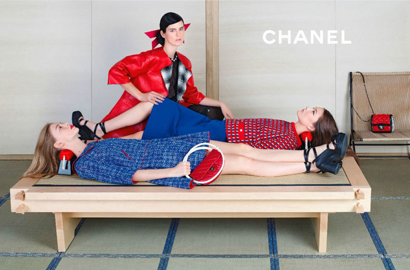 ChanelSpring6 Chanel Looks East for its Spring 2013 Campaign Starring Stella Tennant, Ondria Hardin and Yumi Lambert