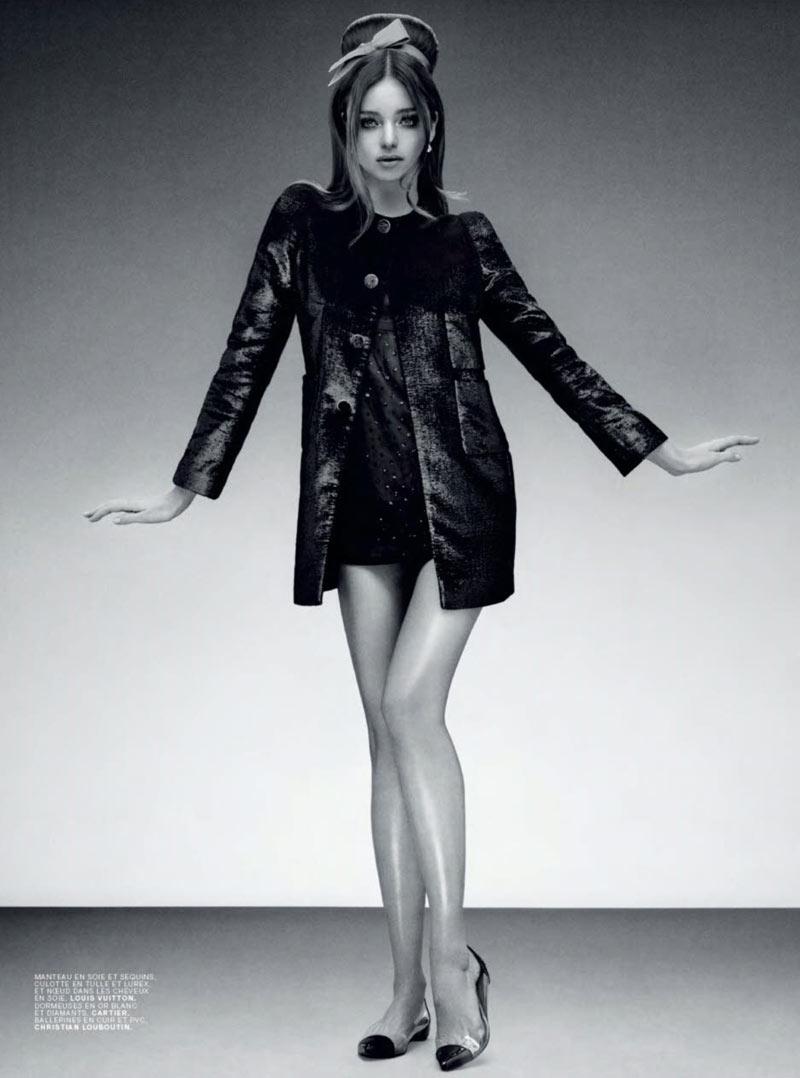 MirandaJalouse6 Miranda Kerr is Retro Glam for the February Cover Shoot of Jalouse