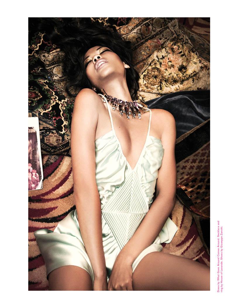 ChanelImanGalore9 Chanel Iman Smolders in Galore Magazine #2 by Ellen von Unwerth