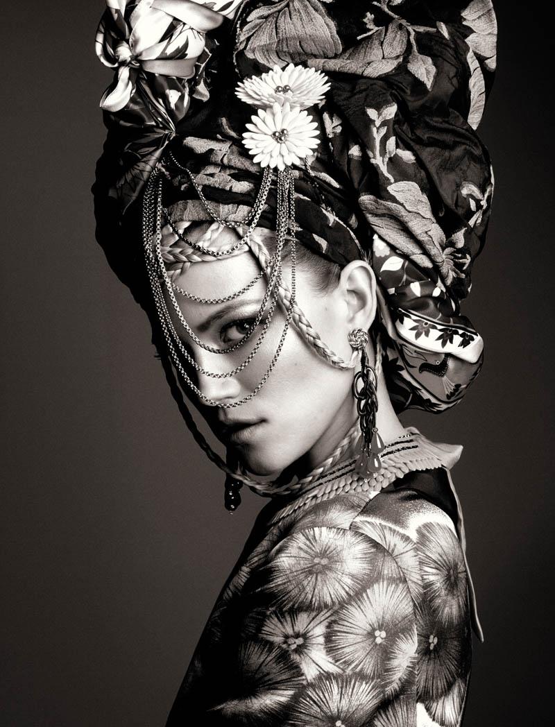 KasiaStrussNumeroGregKadel1 Kasia Struss Dons a Fashion Mix for Numéro #142 by Greg Kadel