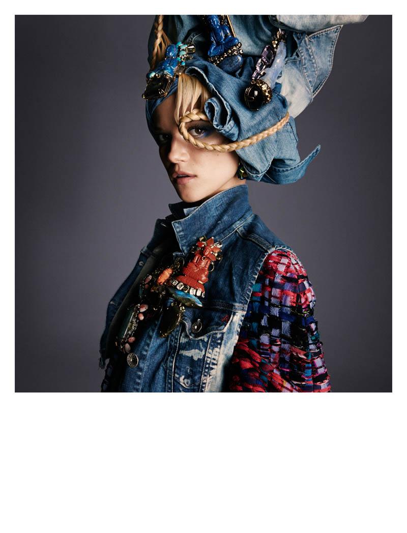 KasiaStrussNumeroGregKadel14 Kasia Struss Dons a Fashion Mix for Numéro #142 by Greg Kadel