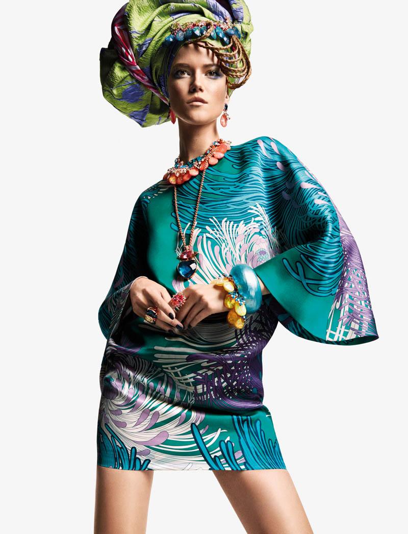 KasiaStrussNumeroGregKadel2 Kasia Struss Dons a Fashion Mix for Numéro #142 by Greg Kadel