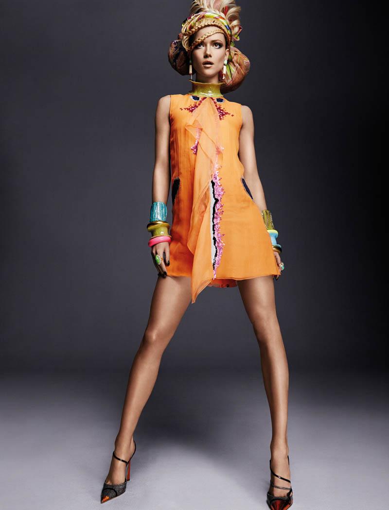 KasiaStrussNumeroGregKadel7 Kasia Struss Dons a Fashion Mix for Numéro #142 by Greg Kadel