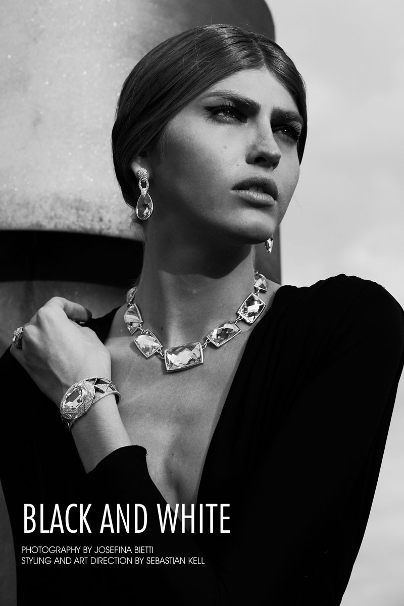 Dafne Cejas Dafne Cejas av Josefina Bietti i svartvitt för Fashion Gone Rogue