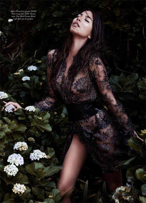 jessica gomes lingerie3 Jessica Gomes Seduces in Agent Provocateur for Harpers Bazaar Australia by Simon Lekias