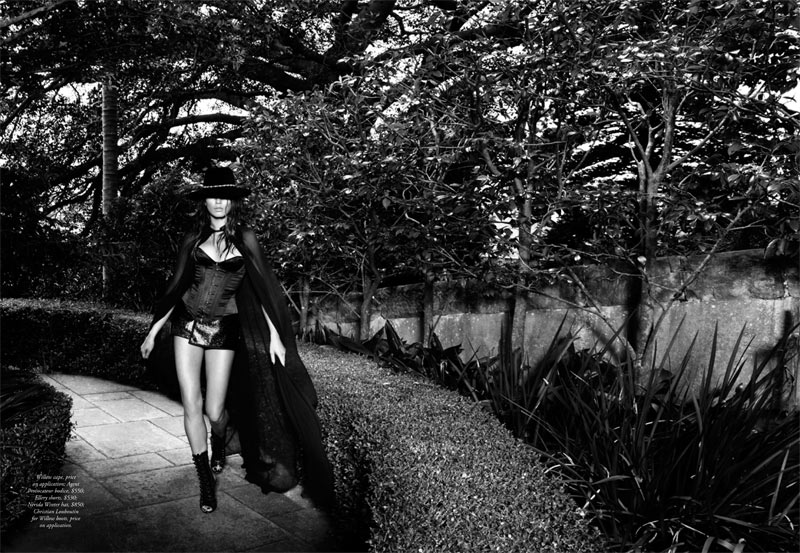 jessica gomes lingerie5 Jessica Gomes Seduces in Agent Provocateur for Harpers Bazaar Australia by Simon Lekias