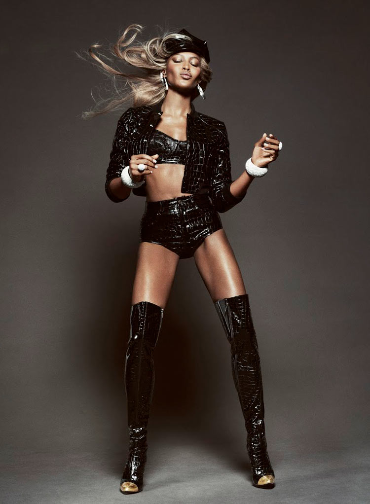 Naomi Campbell Gets Glam for Tom Munro in Vogue Brazil May