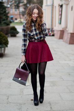 Image result for flannel shirt with skirt