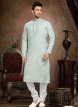 Cotton Embroidered Work Wedding Wear Kurta Pajama