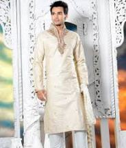 Embroidered Neck Kurta Pajama for Gent