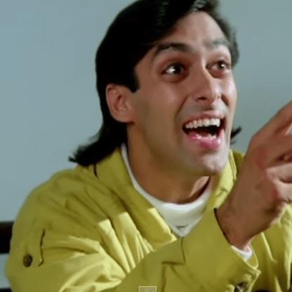 Salman Khan Hairstyle in Andaz Apna Apna