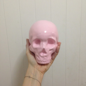 HELPSY PINK SKULL PIGGY BANK | Helpsy