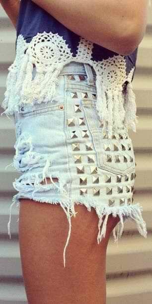 festival style inspiration denim shorts