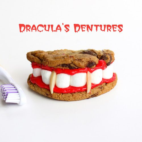 dracula dentures cookie halloween treats