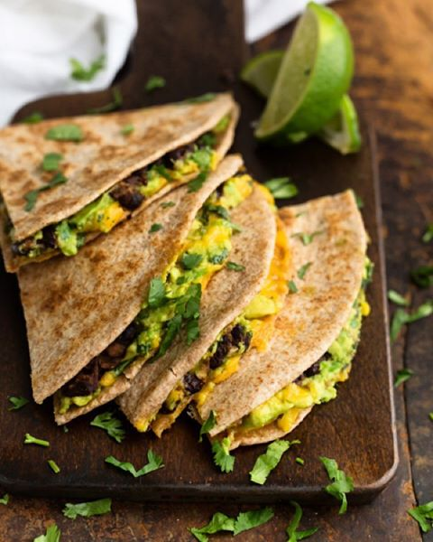 Chipotle Black Bean and Avocado Quesadilla and other healthy recipes from top instagram food accounts