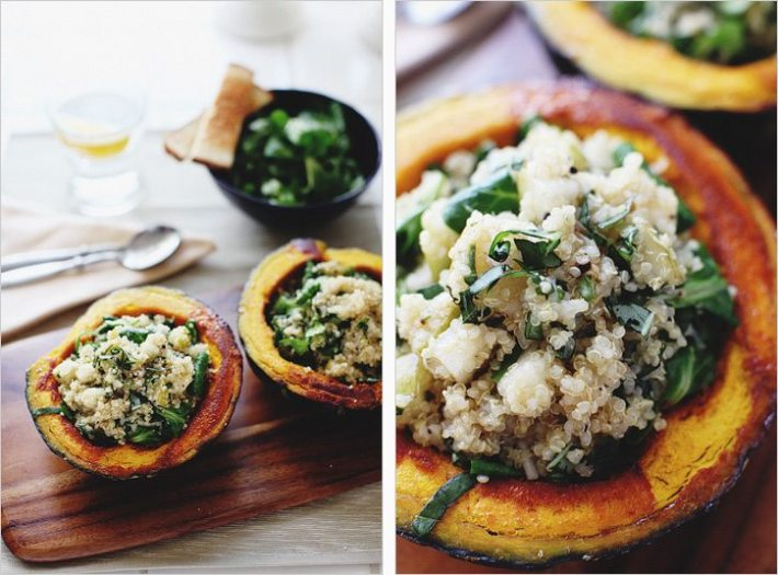 Squash Boats with Quinoa and other healthy recipes from top food bloggers and instagrammers!