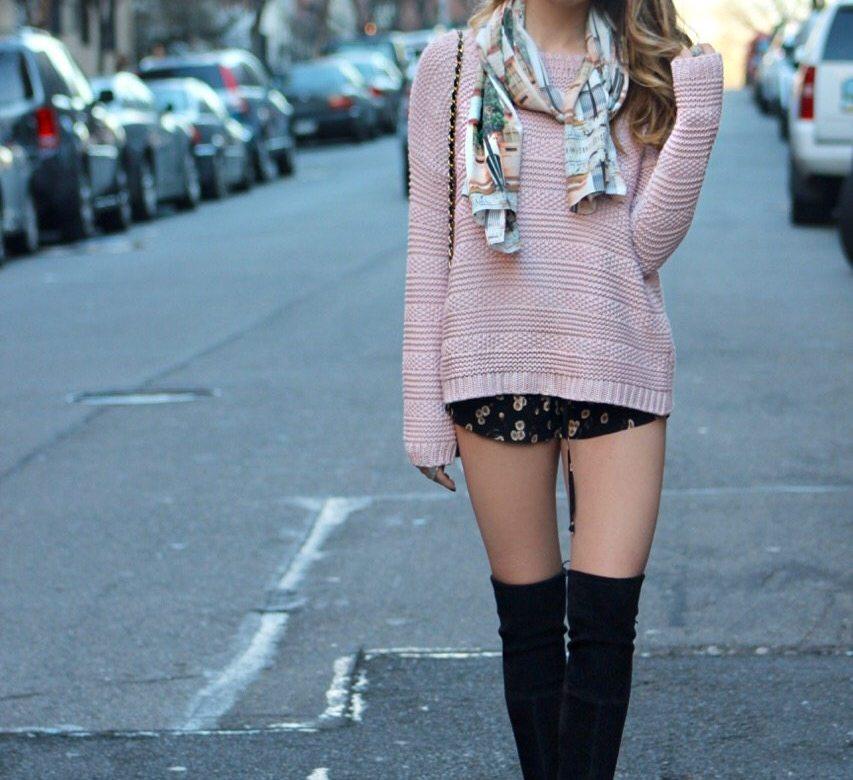 Stalk My Style: Oversized Sweater & Mini Shorts