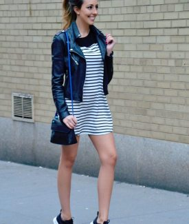 #SeasonsofColor with a Little Striped Mini Dress & MyWalit