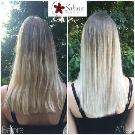 Fanola No Yellow Shampoo for Brassy Blondes Before & After