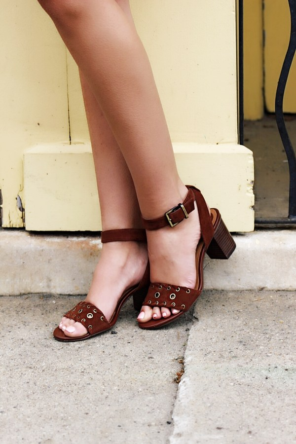 Adorable brown suede comfortable spring sandals