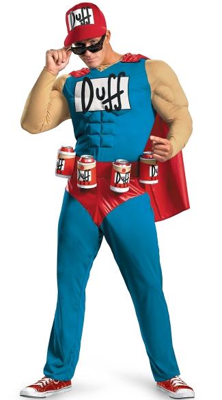 16 Hilarious men's halloween costumes - Duff Man