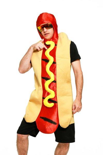 16 Hilarious men's halloween costumes - Hot Dog