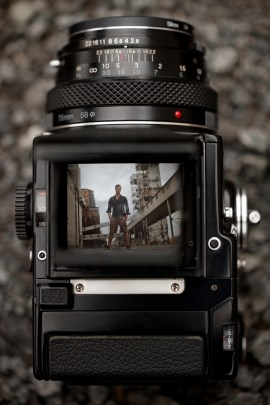 Through the Viewfinder of an Old Medium Format Camera