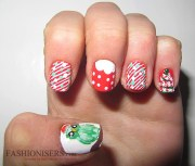 cute christmas nail art design