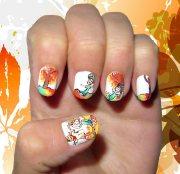 dreamy fall nail art design